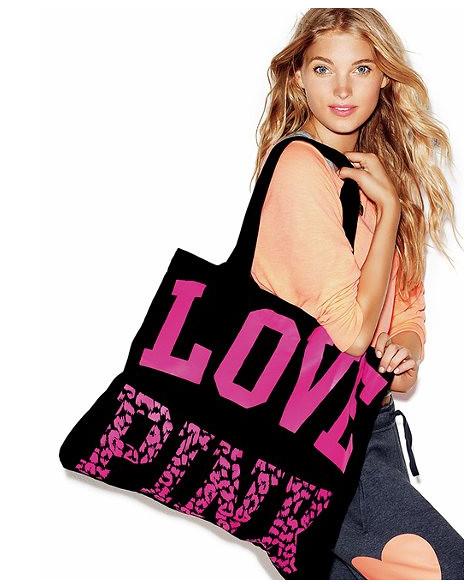 free pink tote model