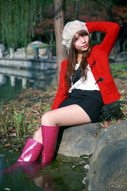 Nokia city rubber boots in garden - 1 5