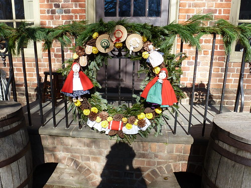 Christmas decorations at Colonial Williamsburg