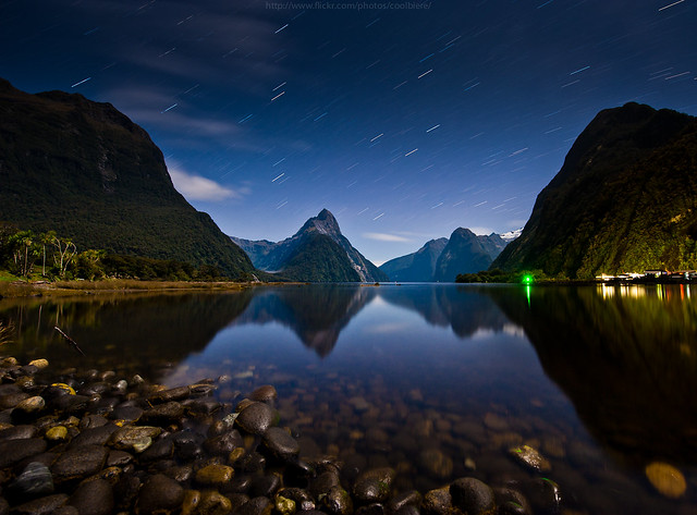 a night at Milford sound