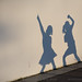 Children dancing and playing with shadows by meandmypictures