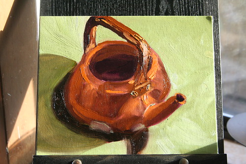 Copper Kettle Study 3: Triad of Orange, Sap Green, and Violet