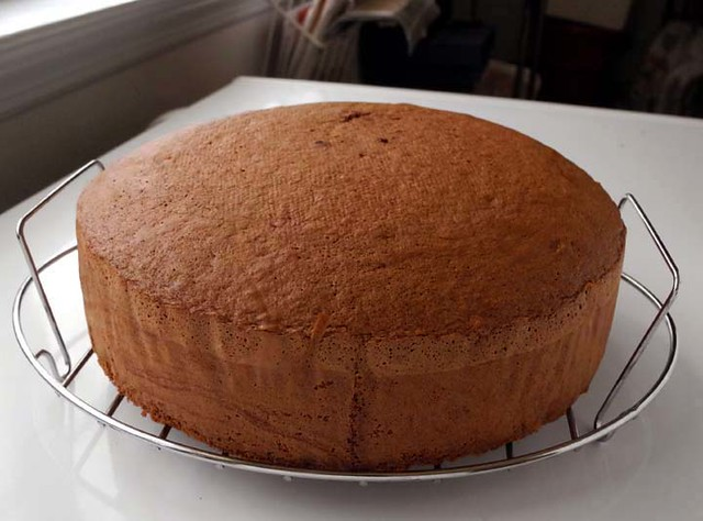 Chocolate Cake (Sponge) | After cooling the sponge cake in a ...