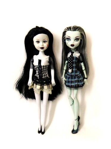 "Gothic Angel ""Frankie"" and Monster High Frankie"