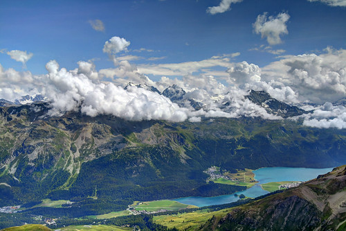 View from Piz Nair by Clickor