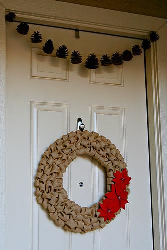 Burlap Wreath 16