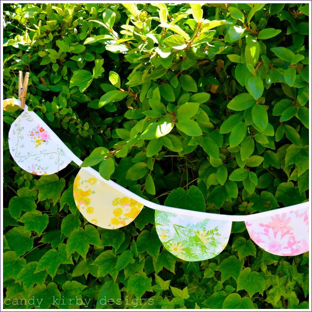 scalloped bunting banner