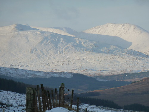 Scottish Mountains in Winter