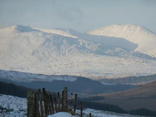Scottish Mountains in Winter