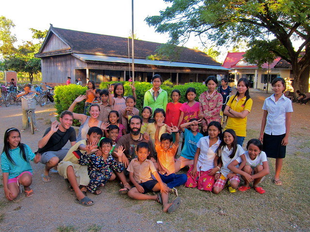 Teaching at KNGO School, Battambang, Cambodia