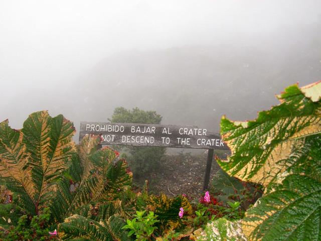 Poas crater view