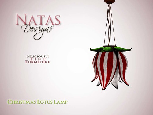 Christmas Lotus Lamp by natashashoteka