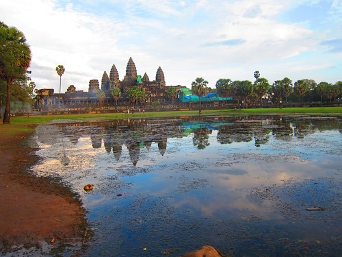 Angkor wat with evening sun