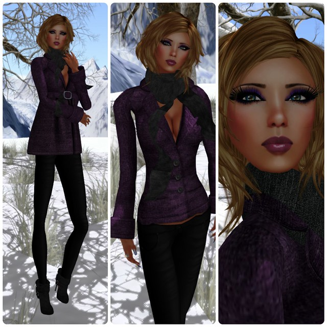-X- After Hours Coat & Legging Purple