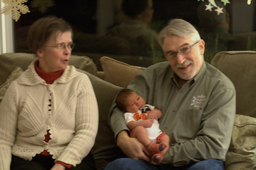 Davis with grandparents