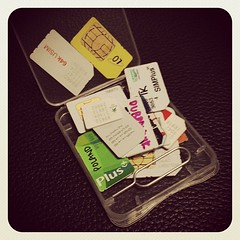 Feel like some secret agent with the SIM cards I've amassed over the year.
