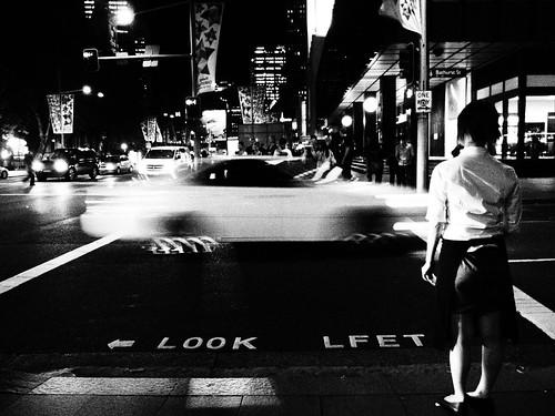 LOOK LFET - Sydney pedestrian crossing sign mistake