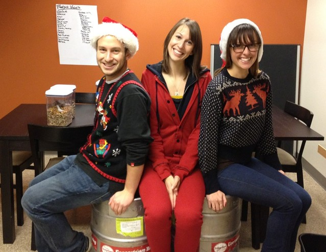 3 Christmas Outfits, 2 Kegs of Mannys, and A Partridge in a Projectline Office