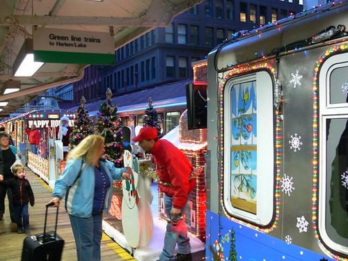 The CTA Holiday Train (by: Devyn Caldwell, creative commons license)