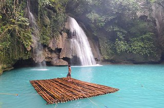 Kawasan watefall level 1 in Cebu in Philippines