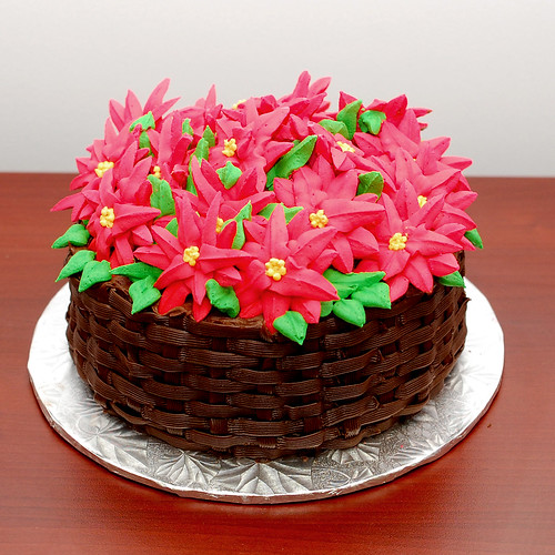 Bourbonnatrix Bakes: poinsettia cake
