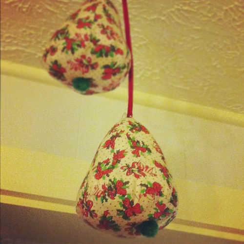 Plush Christmas bells my mom made when I was little.