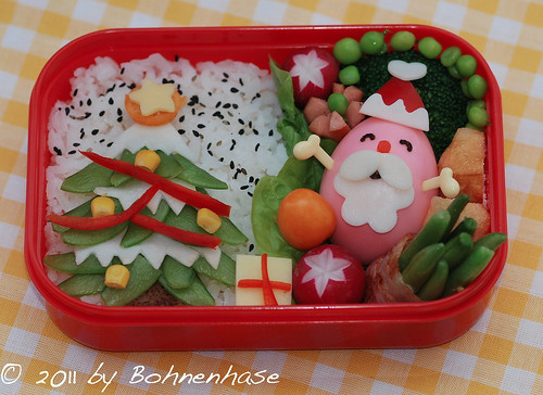 Bento #14: Santa and the Christmas Tree by Mokiko - Bohnenhase
