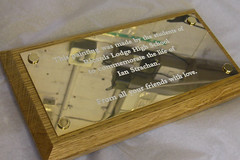 Polished Brass Engraved Plaque