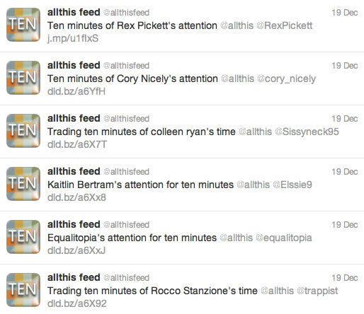 AllThis feed tweets