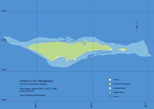 Samana Cay - EVS Precision Map (1-85,000)