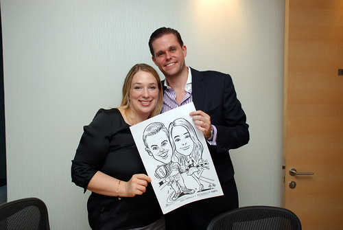 caricature live sketching 2011 Formula 1 RR Donnelley Party - 2