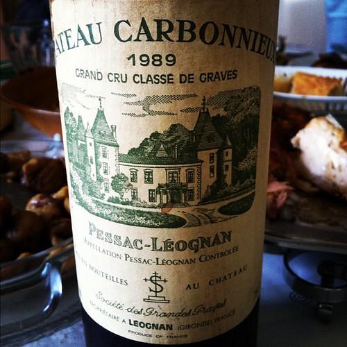 Château Carbonnieux 1989, Pessac-Léognan avec pintades rôties et sauce de cèpes #glouglou #joyeuxnoel