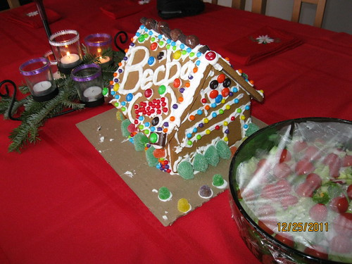 12/25/11: Gingerbread house.