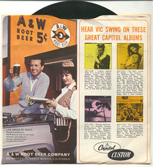 "A&W Root Beer 7"" record with Vic Damone"