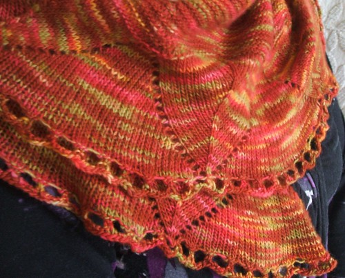 Damson shawl