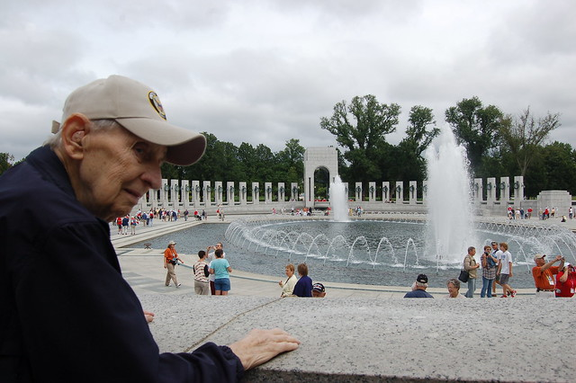 Mr. Stambaugh Visiting the World War II Memorial in Washington D.C.