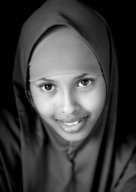 Portrait Of Beautiful Young Woman Wearing Veil In Berbera Somaliland