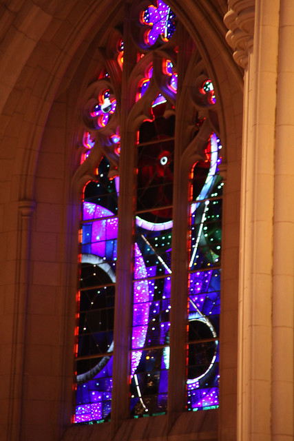 Space Window - South Nave Bay E - National Cathedral - DC