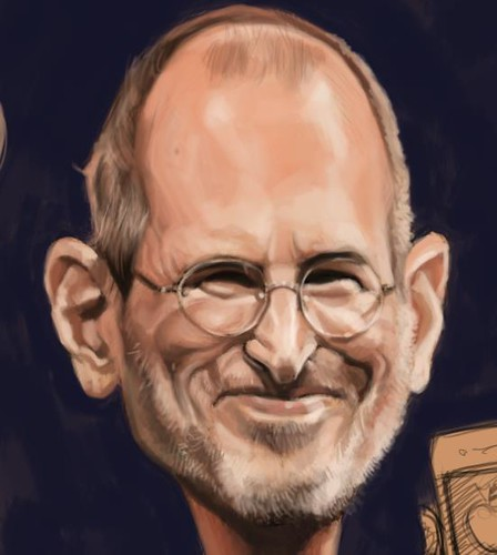 digital caricature of Steve Jobs - 2