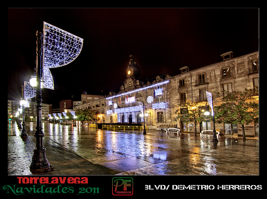 Torrelavega - Boulevard Demetrio Herreros  - Navidades 2011