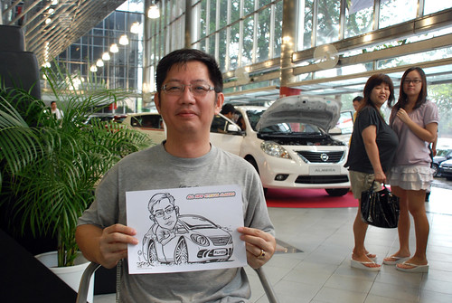 Caricature live sketching for Tan Chong Nissan Almera Soft Launch - Day 1 - 35