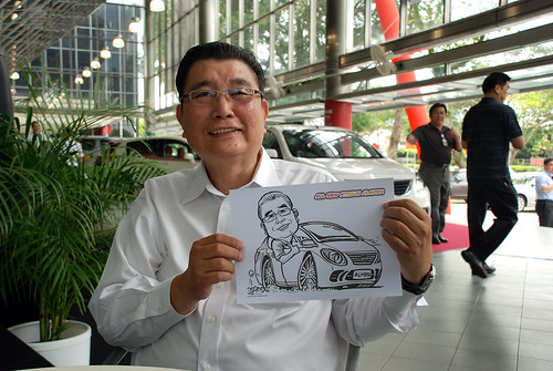 Caricature live sketching for Tan Chong Nissan Almera Soft Launch - Day 2 - 22