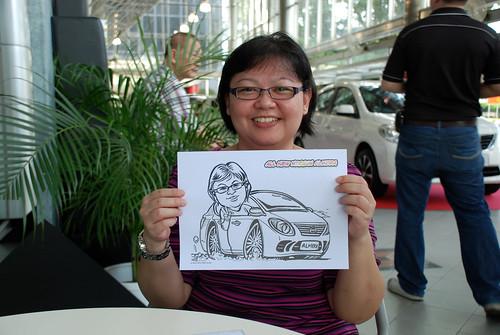 Caricature live sketching for Tan Chong Nissan Almera Soft Launch - Day 2 - 33