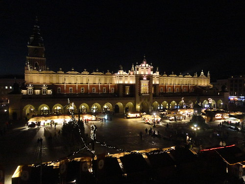 Krakow by night