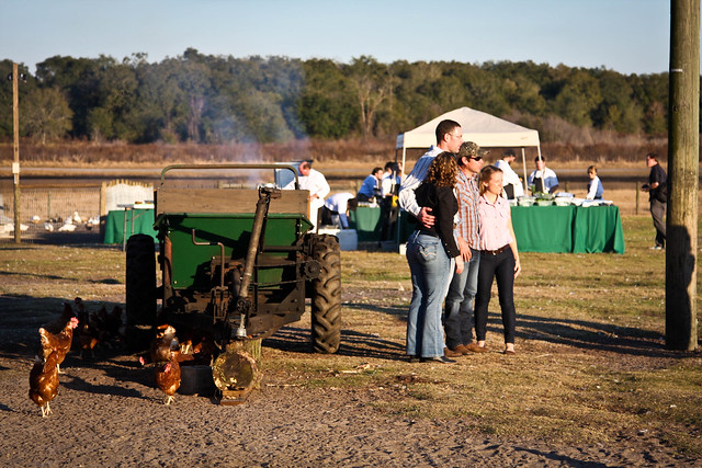 farm dinner scene
