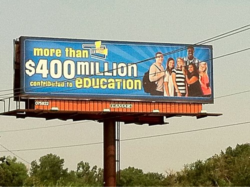 Misleading Oklahoma Billboard About the Lottery