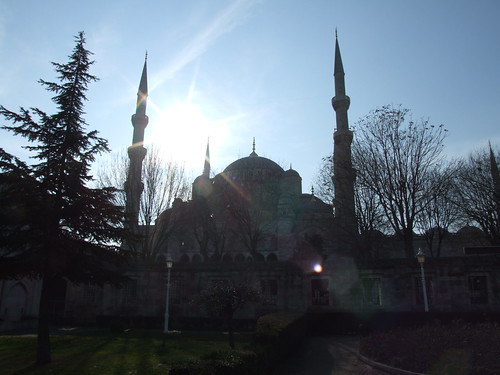 Blue Mosque lens flare