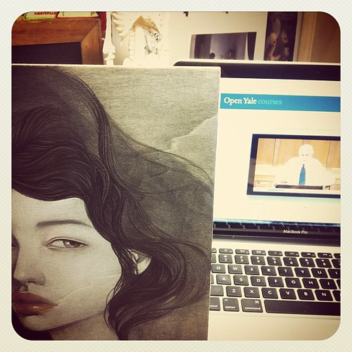 Addicted to these lectures while painting (open yale courses on Greek history) 