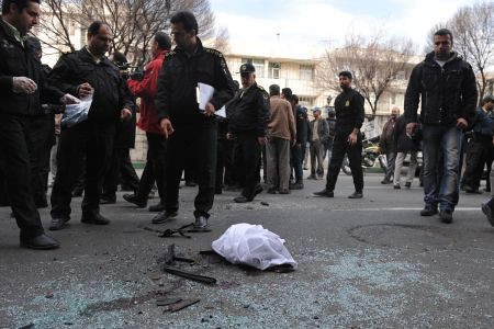 Aftermath of bomb explosion in Iran that targeted nuclear scientist Mostafa Ahmadi Roshan. Iranian scientists have been targeted by the West for assassination. by Pan-African News Wire File Photos