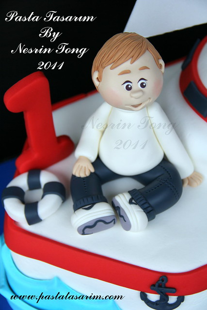 SAILBOAT CAKE- POYRAZ 1ST BIRTHDAY CAKE